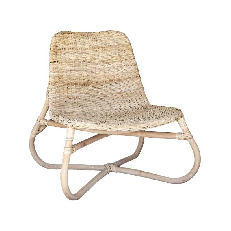 Haiti Bamboo Rattan Lounge Chair, Natural