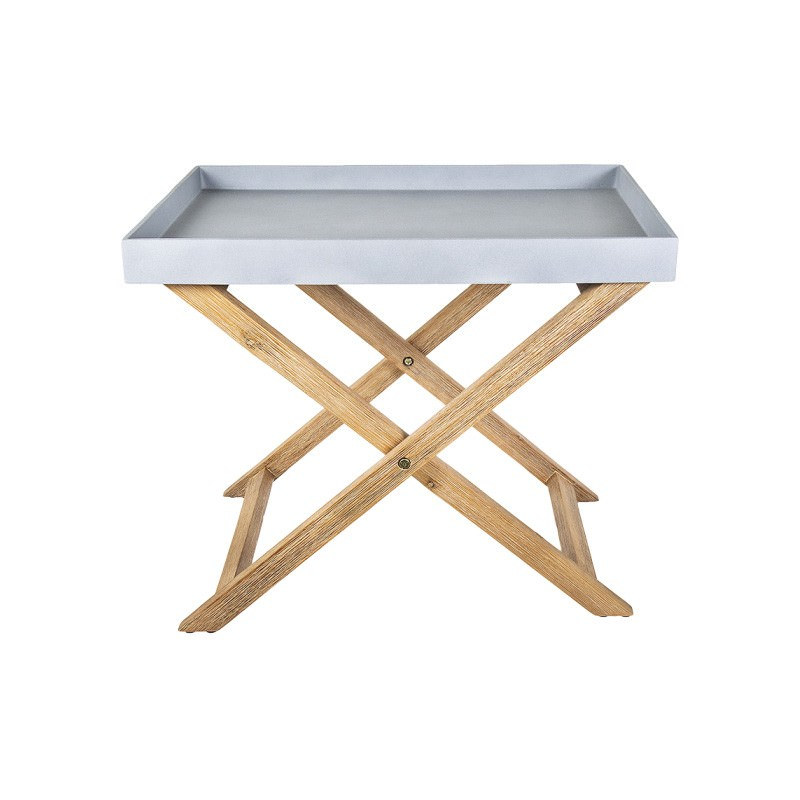 Hastie Poly Cement Tray Top Side Table