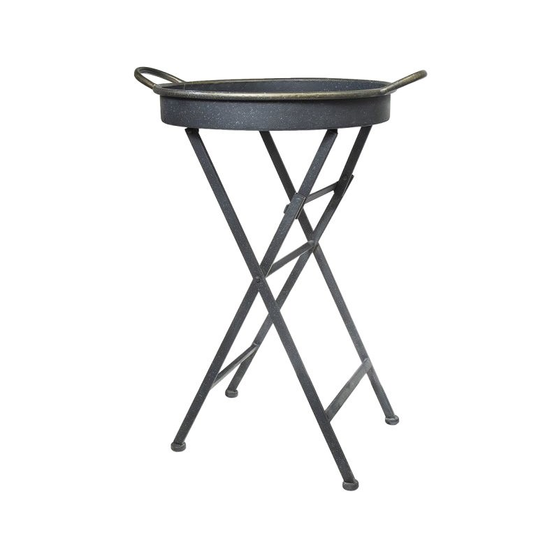 Nero Iron Tray Top Side Table