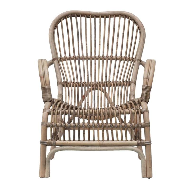 Seville Rattan Lounge Armchair, Grey