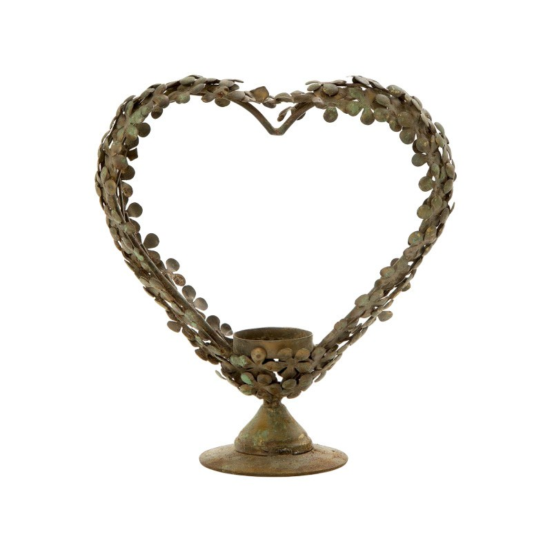 Davila Metal Heart Wreath Tealight Holder