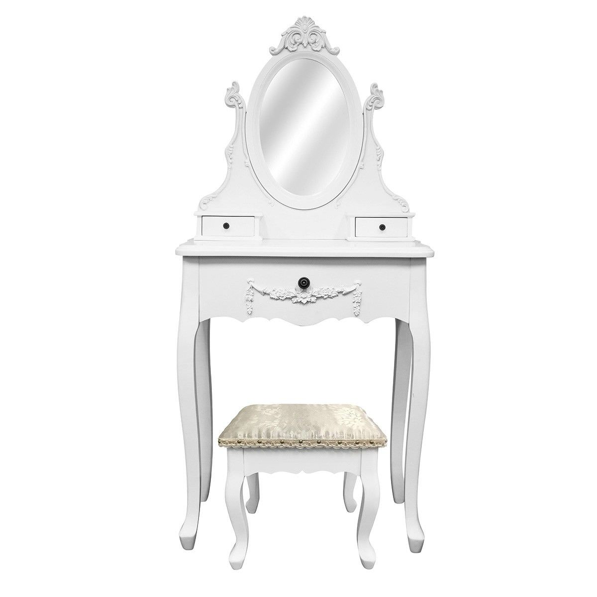 Carville Dressing Table with Ecoles Dressing Stool