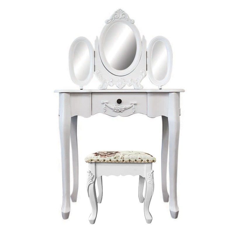 Ivry Dressing Table with Carville Dressing Stool