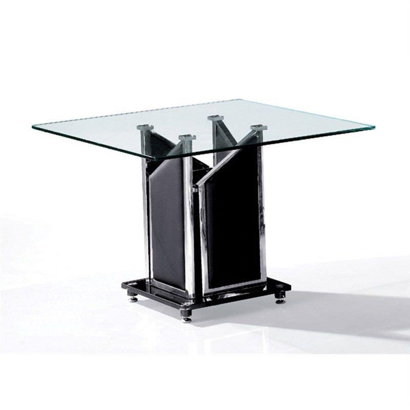 Barcelona Lamp Table in Black - 65 x 65 x 50 cm