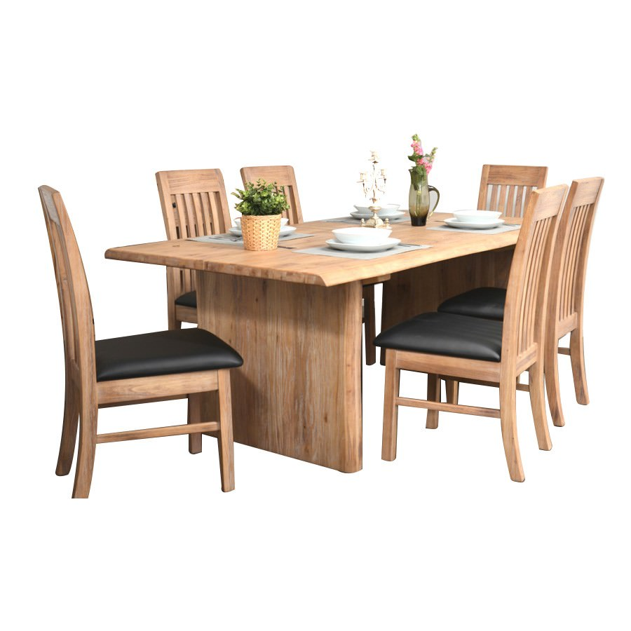Ramsey 9 Piece Mountain Ash Timber Dining Table Set, 240cm