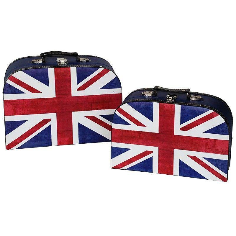 Set of 2 British Flag Suitcase