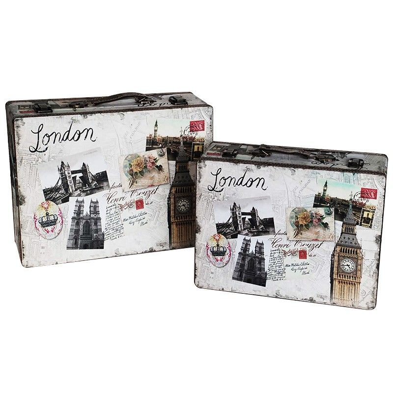 Set of 2 London Scenic Suitcase