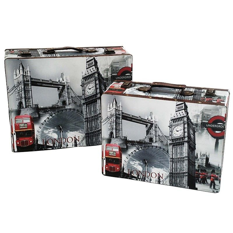 Set of 3 London Scenic Suitcase