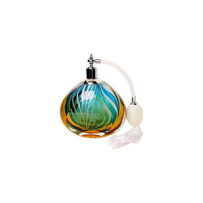 Glass Bottle Atomizer-Blue-White