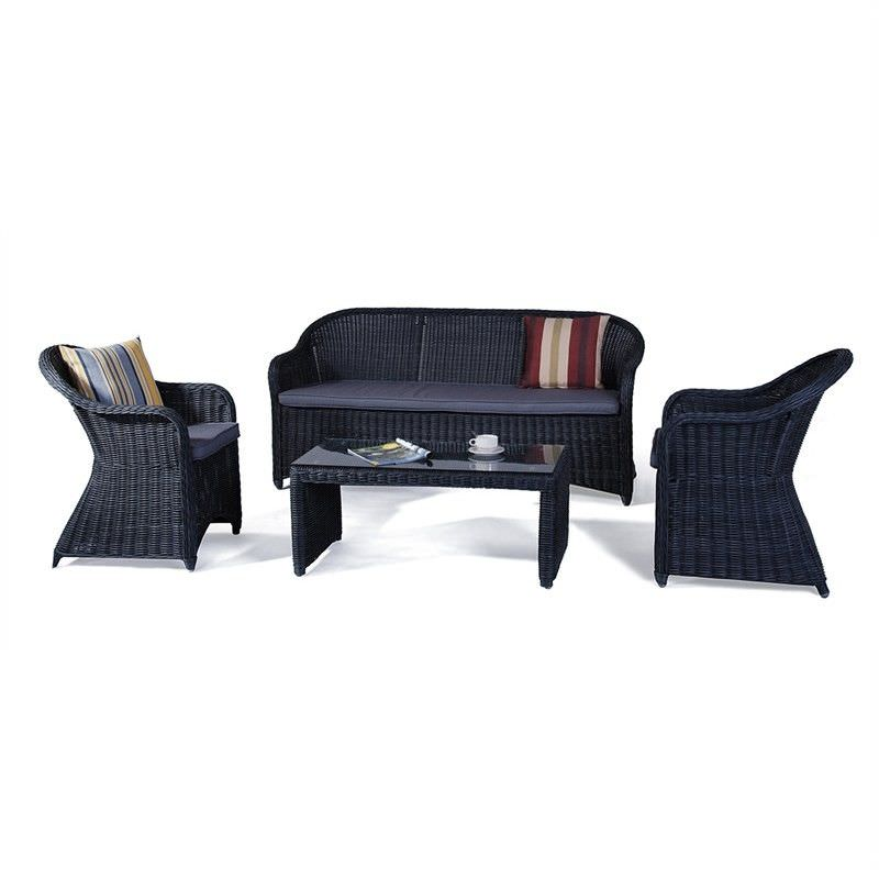 Chester 4-Piece Wicker Sofa Set - Castle Grey