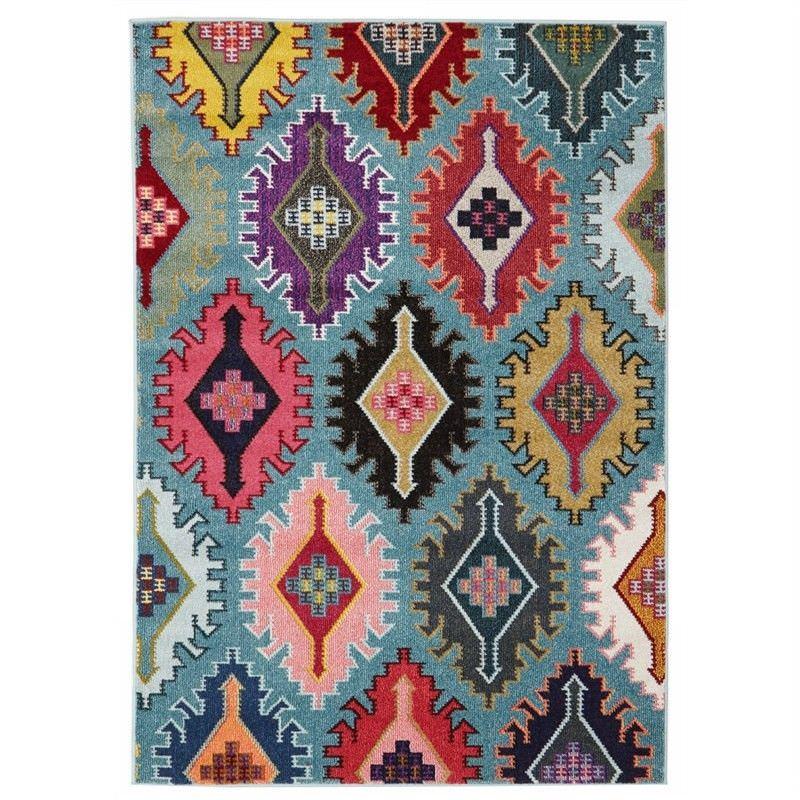 Kata Turkish Made Modern Rug in Blue - 230x160cm