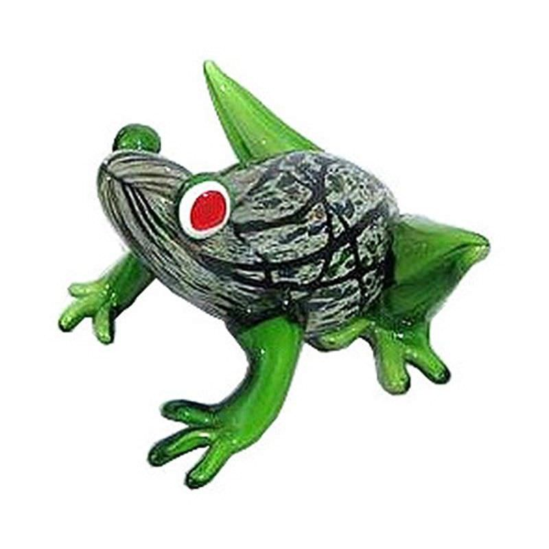 Hand Made Glass Art Figurine - Frog C