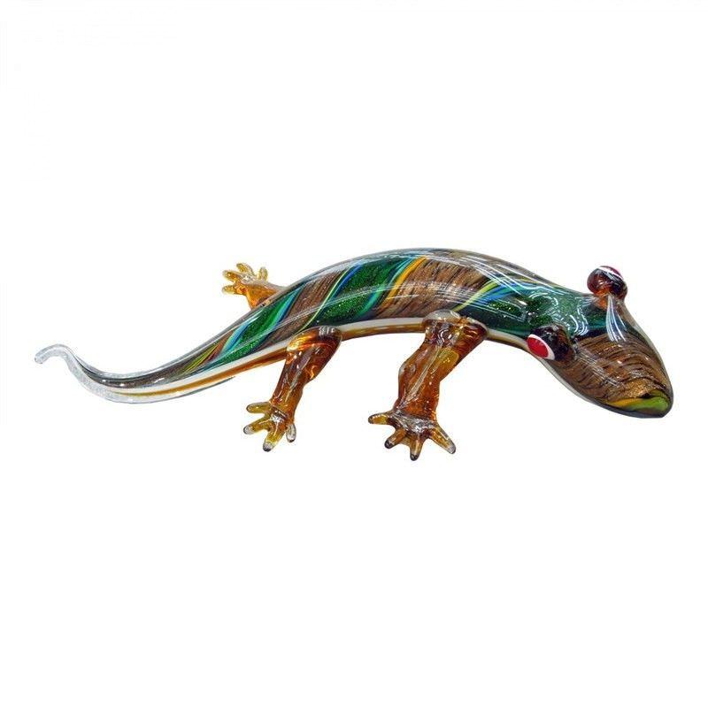 Hand Made Glass Art Figurine - Tounge Lizard