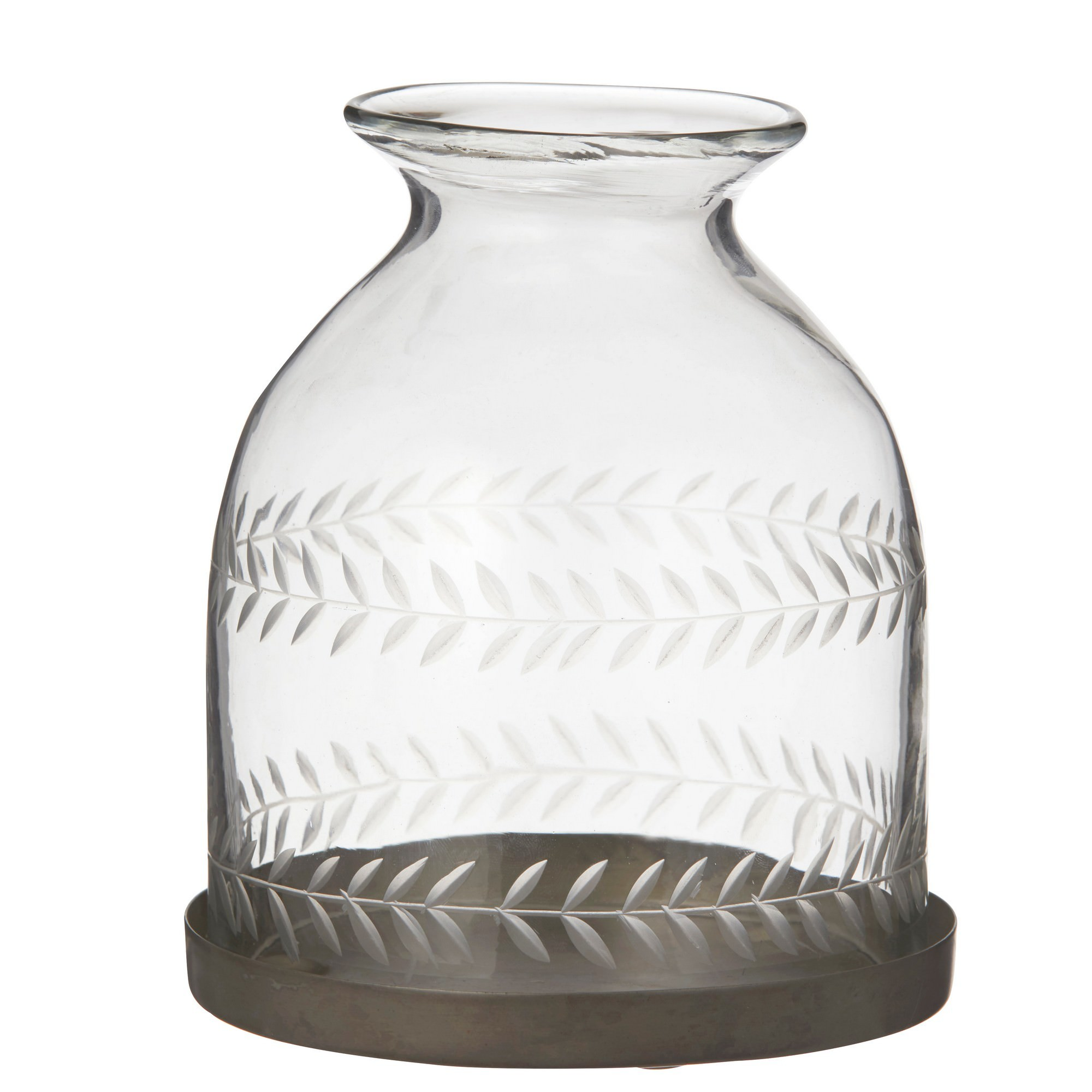 Baccarat Glass Dome Candle Holder / Cloche