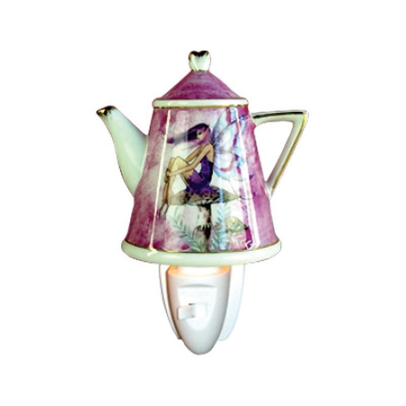 Fairy Teapot Porcelain Night Light
