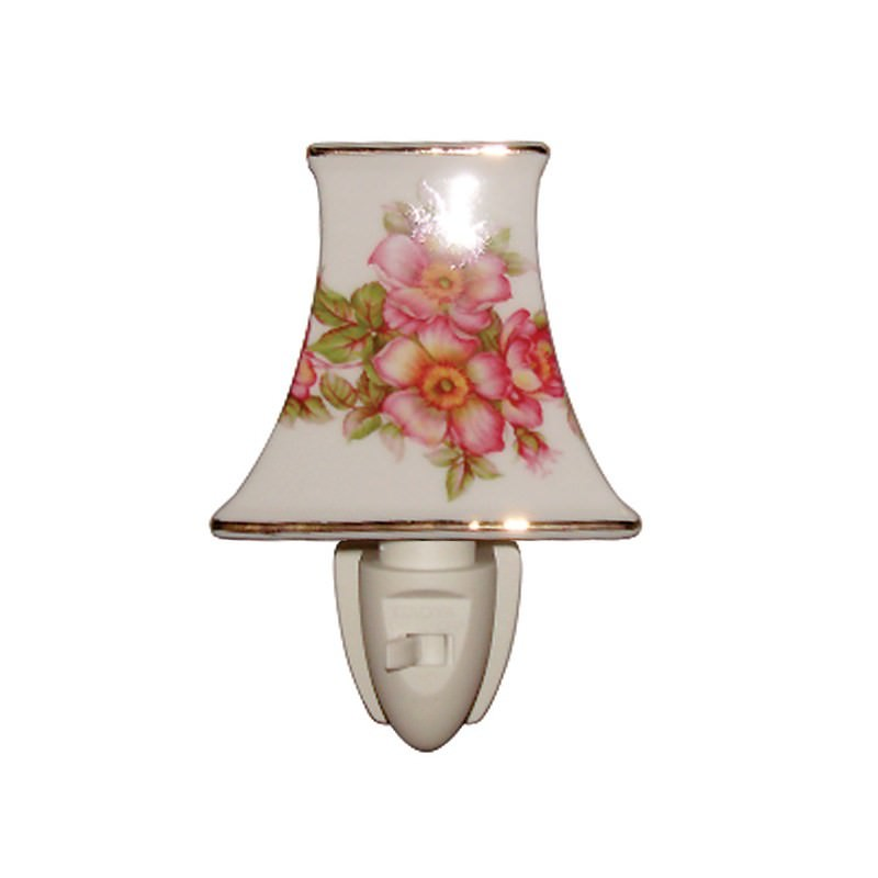 Tudor Rose Porcelain Night Light
