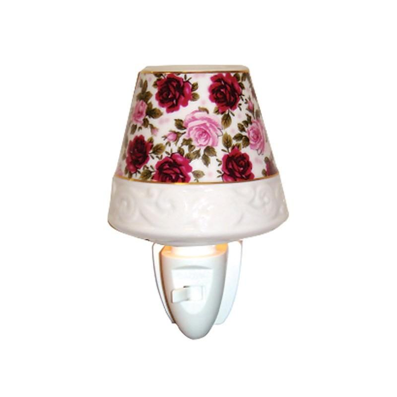 Rose Wallpaper Porcelain Night Light