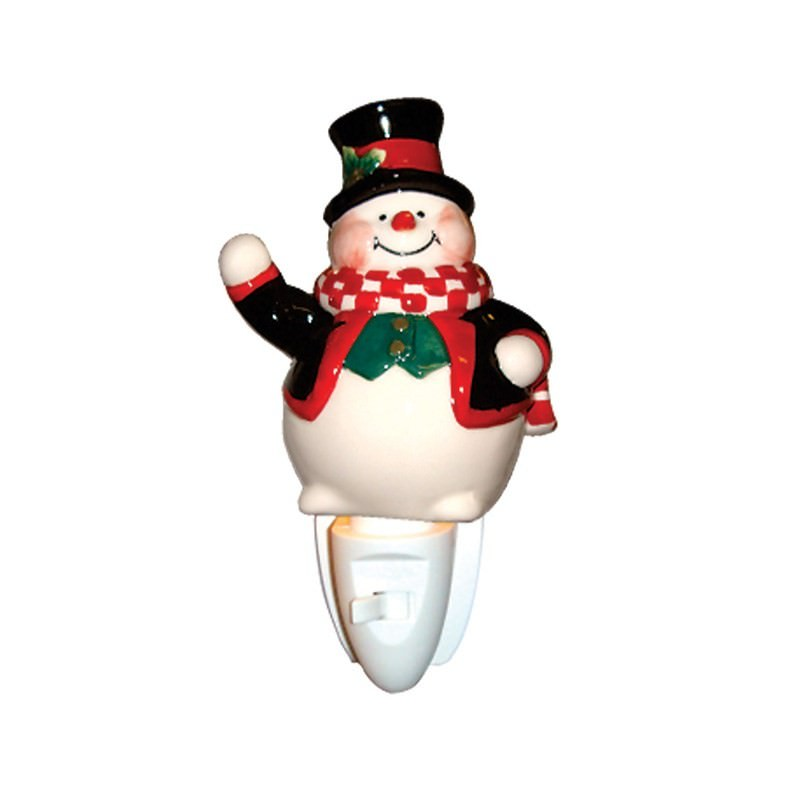 Frosty Snowman Porcelain Night Light