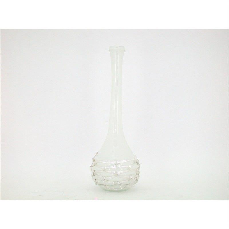 50Cm Hand Blown Chain Design Glass Vase - 18x18x50cm