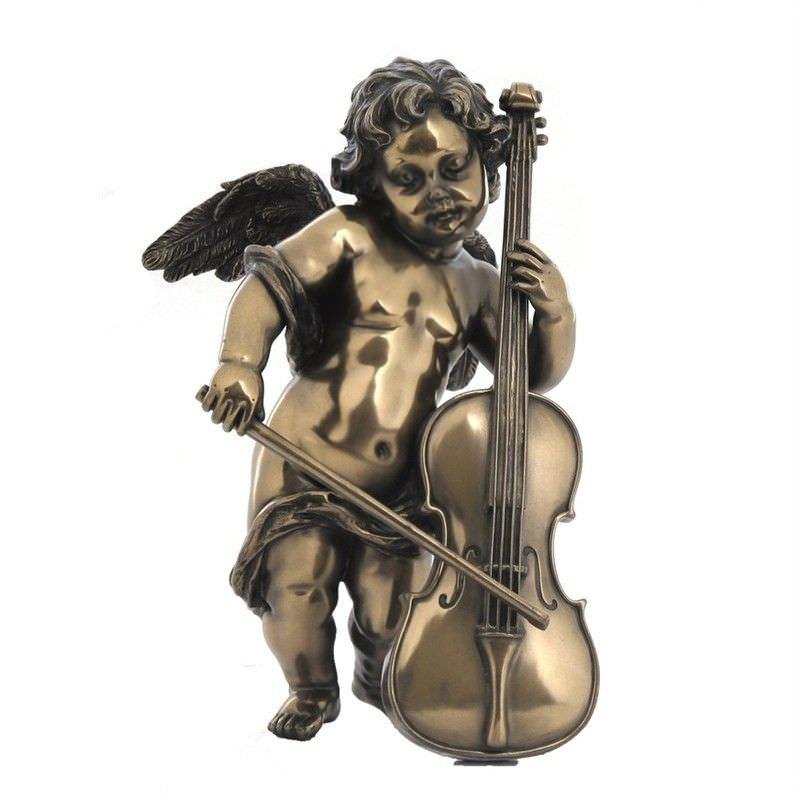 Cherub Figurine, Playing Cello