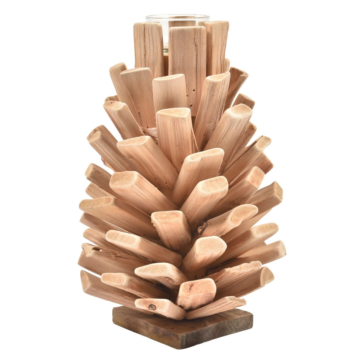 Pacheco Drfitwood Pine Cone Tealight Holder, Large