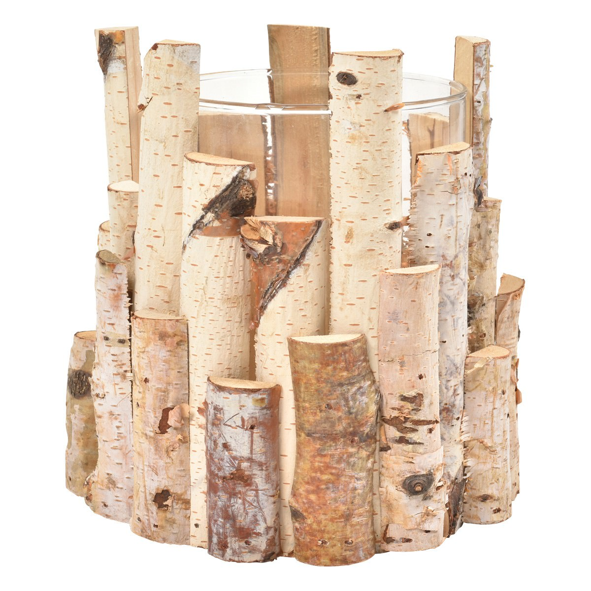 Channing Birch Wood Round Tealight Holder, Large