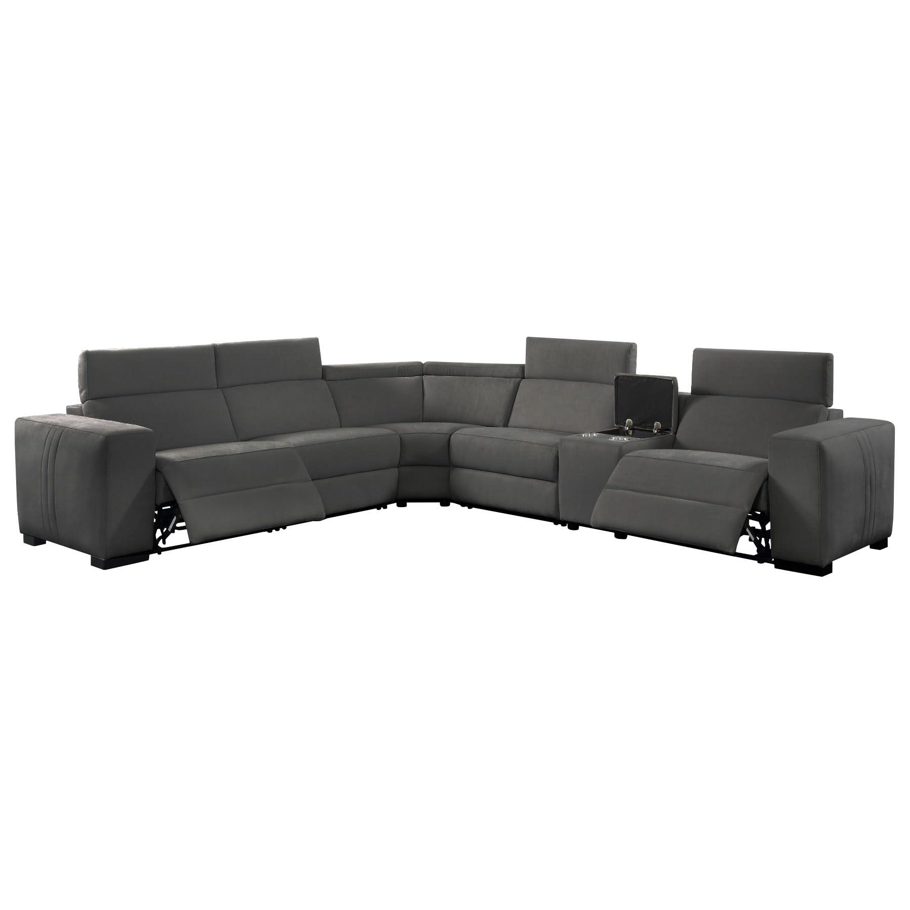 Genie Fabric Modular Corner Sofa, Dark Grey