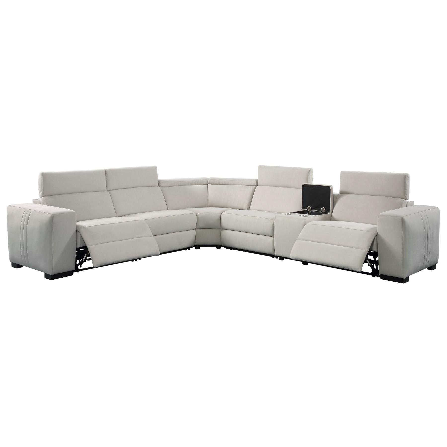 Genie Fabric Modular Corner Sofa, Light Grey