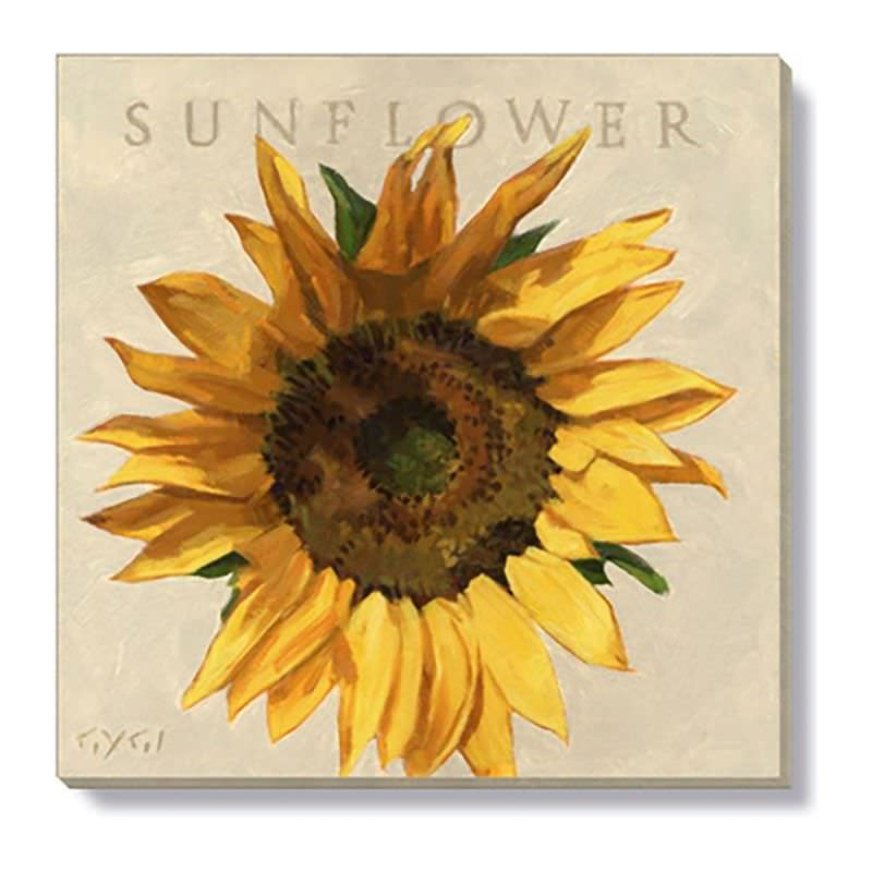Bayport Stretched Canvas Wall Art Print, Sunflower, Small