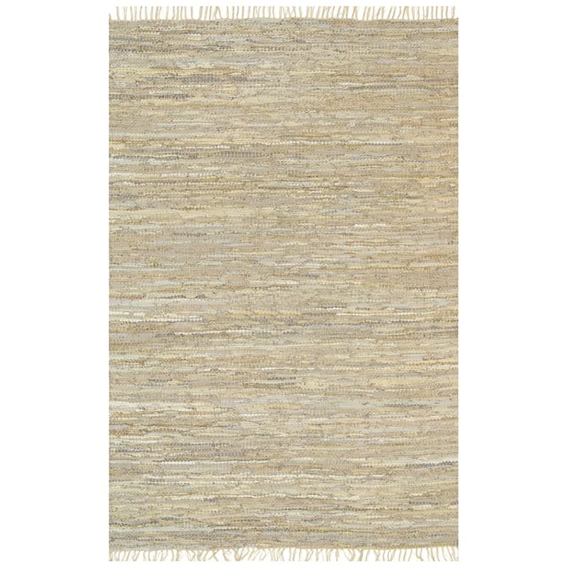 Gypsy Hand-tied Leather Rug, 230x320cm, Sage