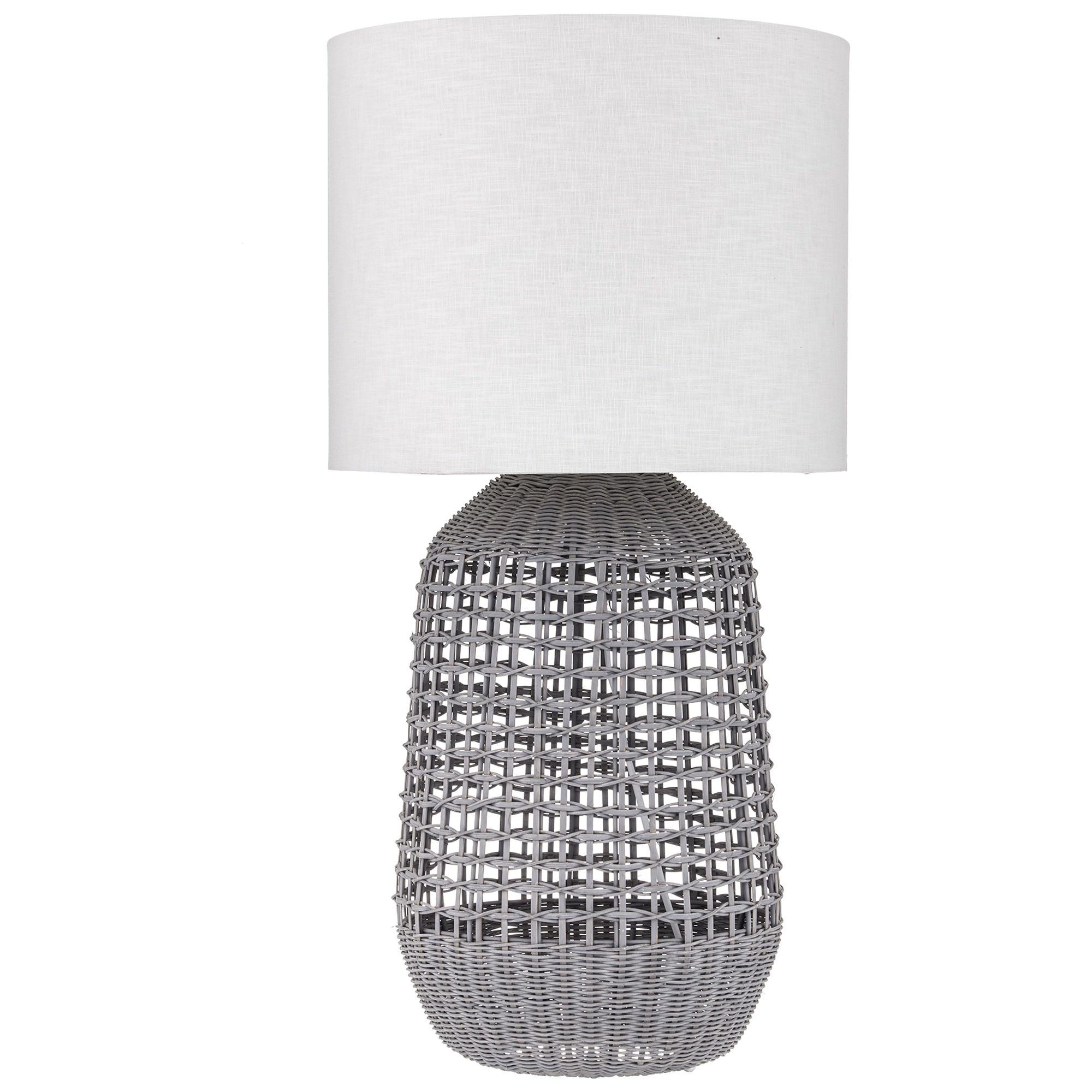 Miku Rattan Base Table Lamp