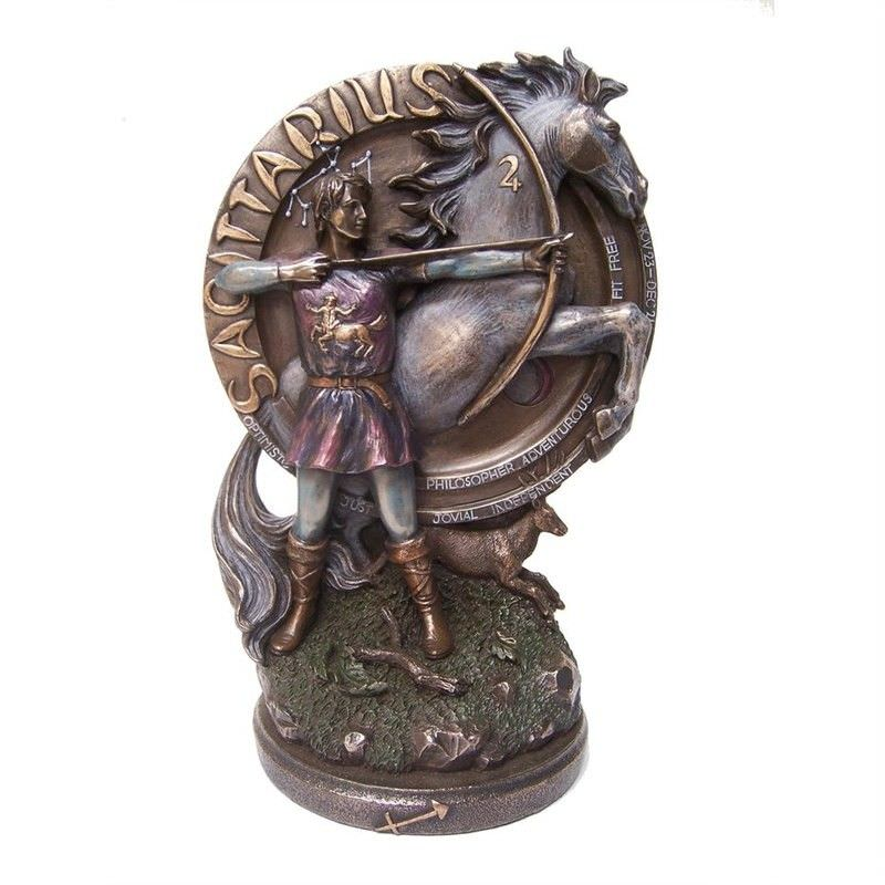Cast Bronze Zodiac Sign Figurine, Sagittarius
