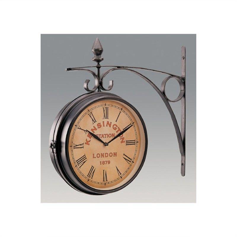 Metal 2 Sided Kensington Clock