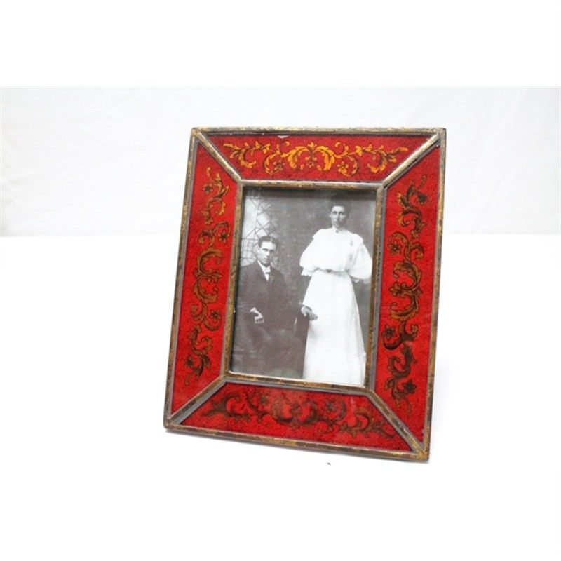 Glass Photo Frame   - Red -Small