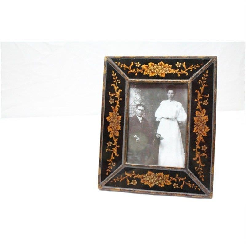 Glass Photo Frame - Black -Medium