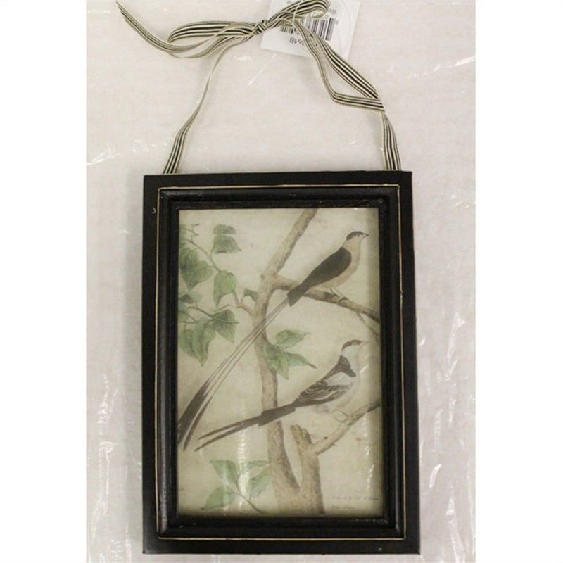 Wood and Glass Wall Plaque - Nature