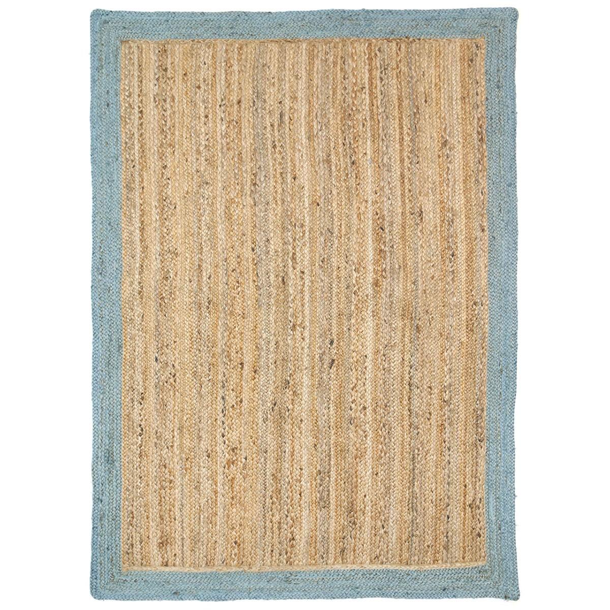 Hampton I Reversible Jute Rug, 150x220cm, Blue
