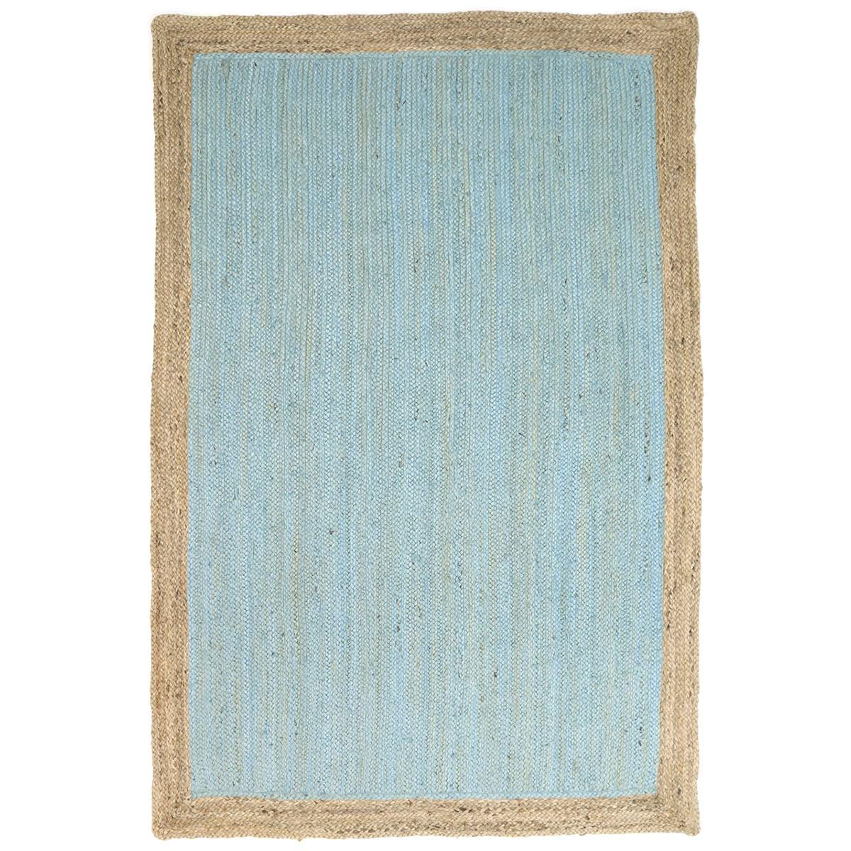 Hampton II Reversible Jute Rug, 150x220cm, Blue