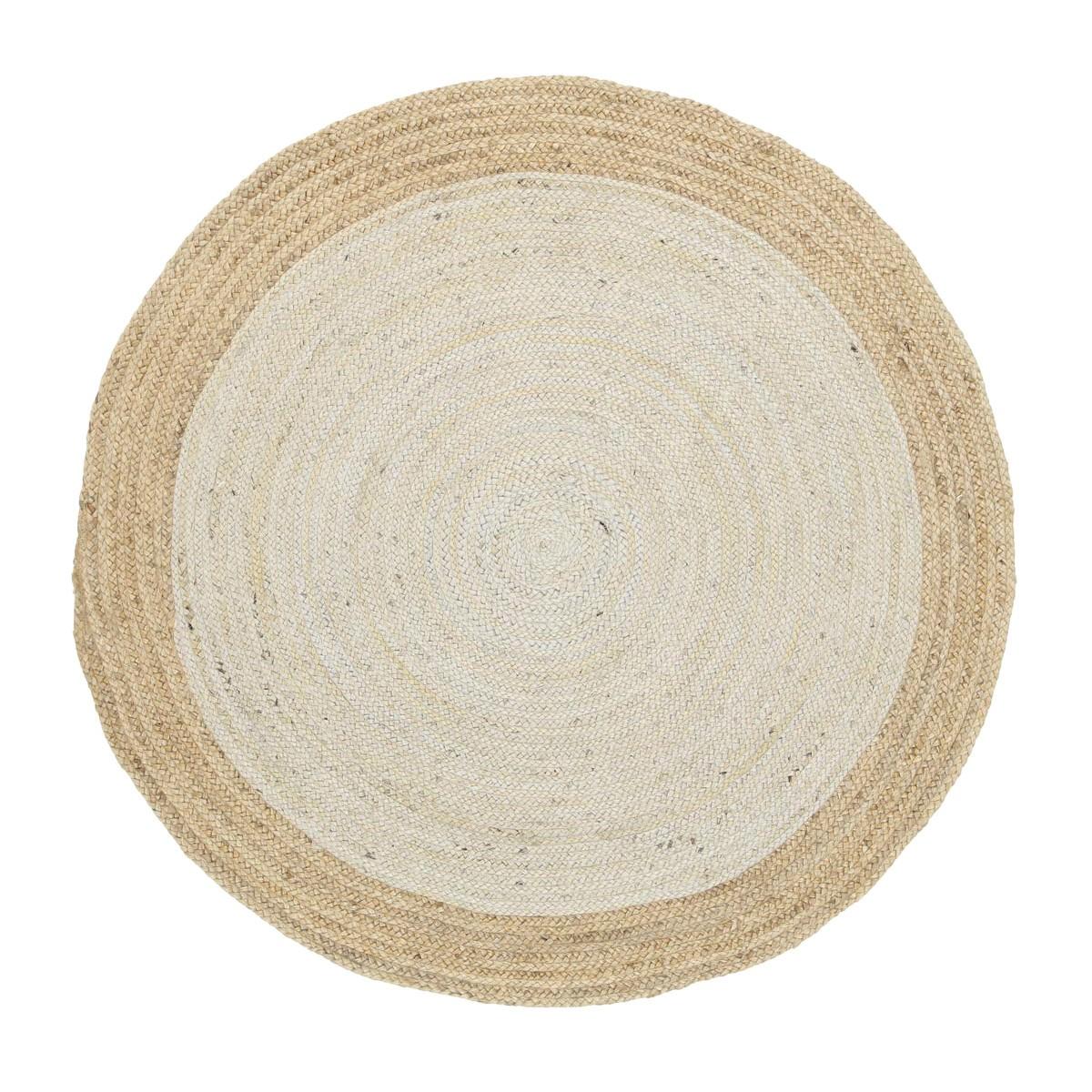 Hampton II Reversible Jute Round Rug, 200cm, Pearl