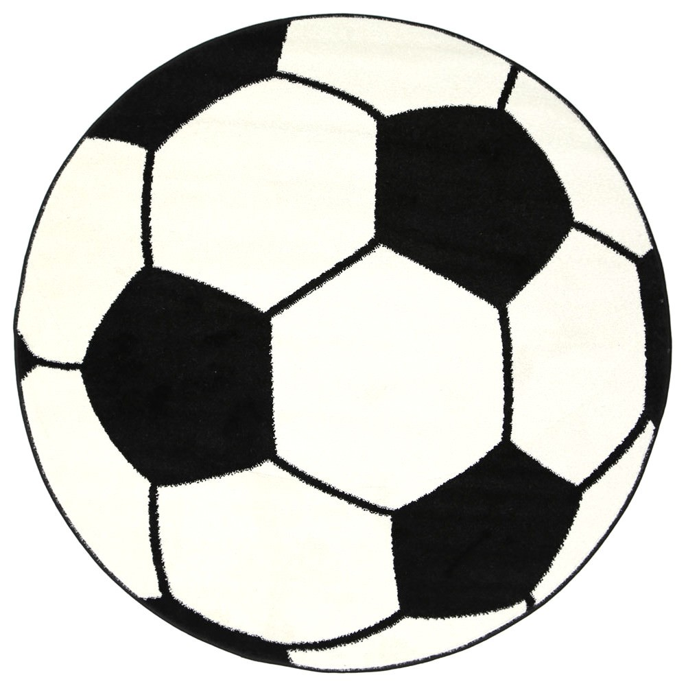 Nova Soccer Ball Round Kids Rug, 80cm
