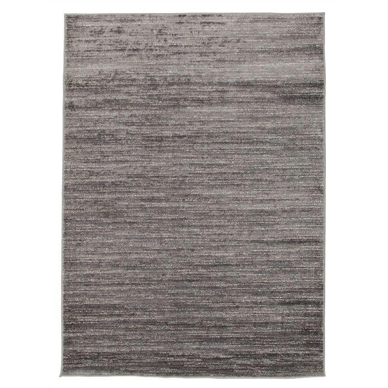 Pandora Stripe Contemporary Rug in Charcoal/Grey - 330x240cm