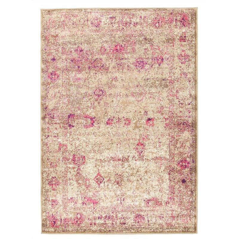 Aisha Vintage Ziegler Rug in Pink/Beige - 230x160cm