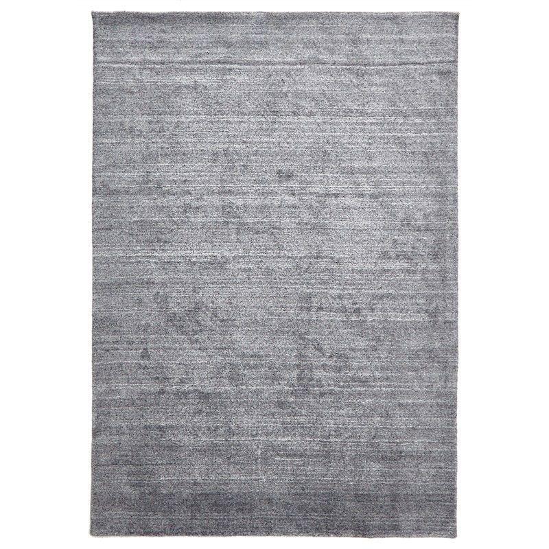 Manhattan Hand Made Wool Rug in Grey - 280x190cm