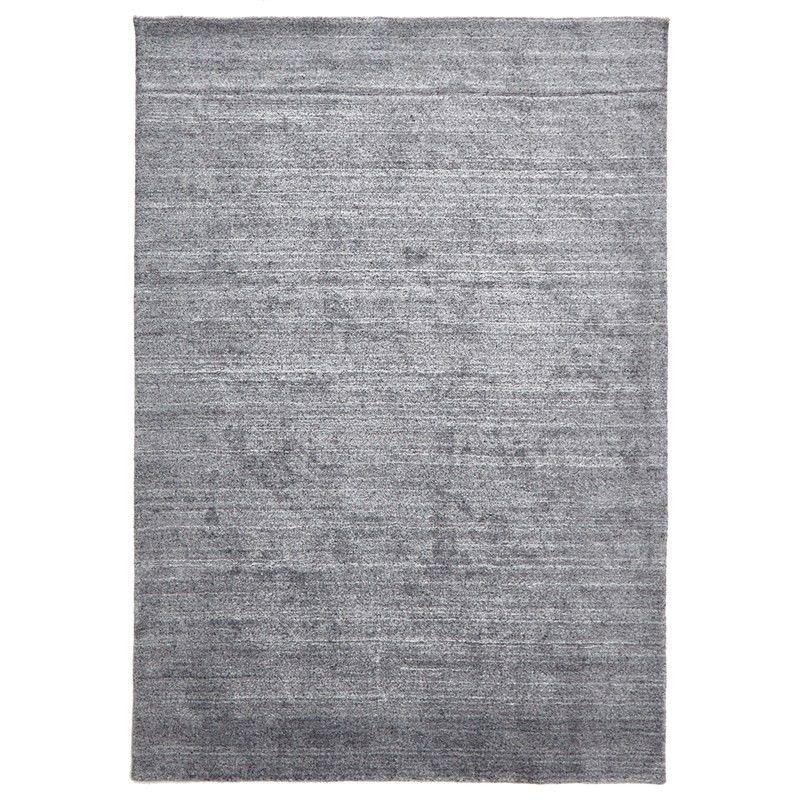 Manhattan Hand Made Wool Rug in Grey - 320x230cm