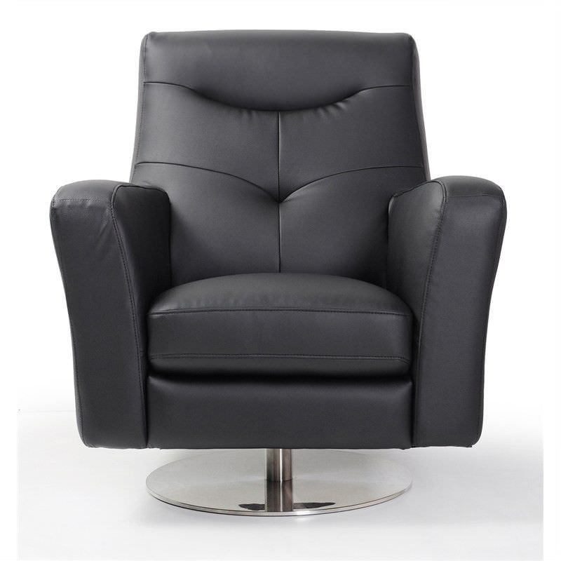 Mason Armchair with Swirling Base in Pearl Black