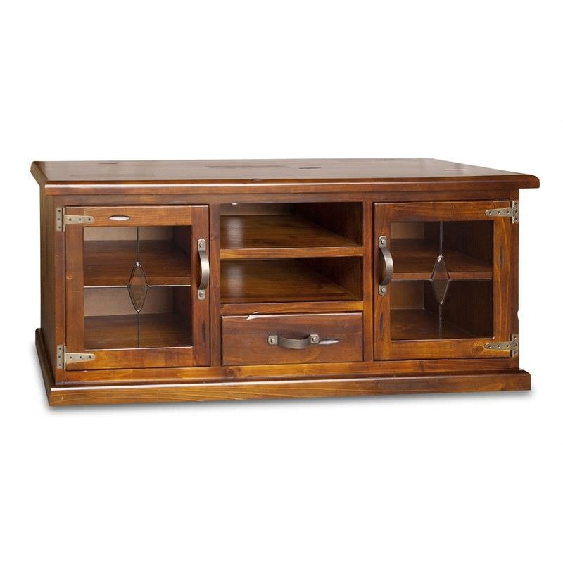 Heritage Medium Low TV Unit in Patchy Blackwood