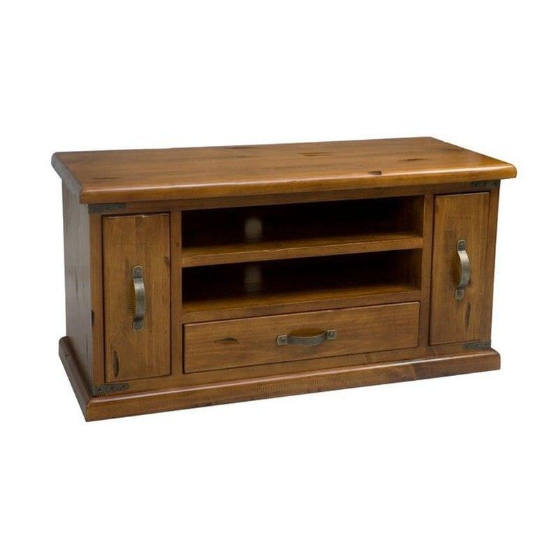 Heritage Small Low TV Unit in Antique Baltic