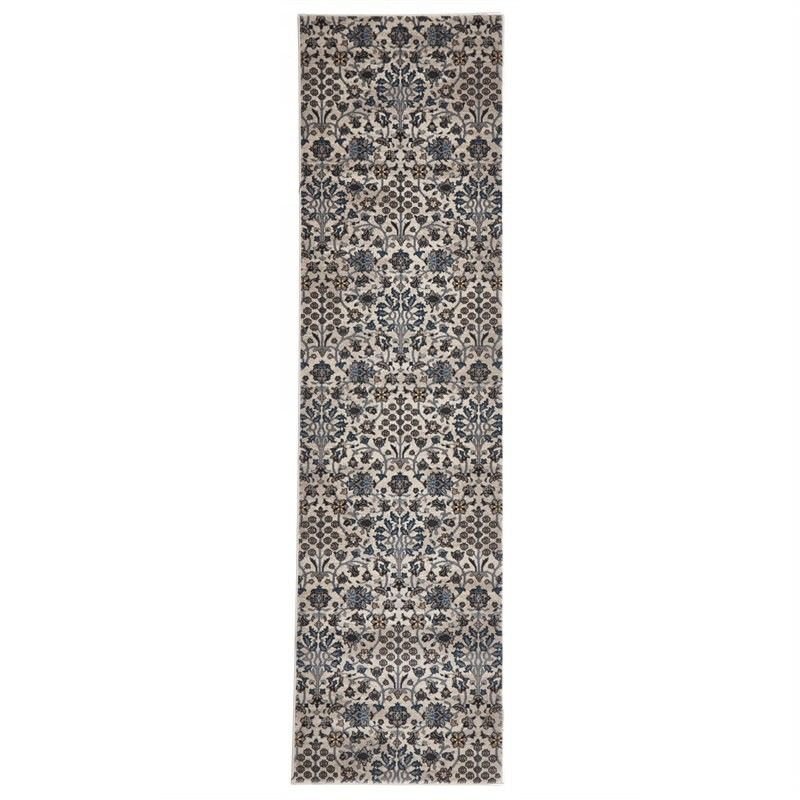 Turkish Made Morris Imperial Runner Rug in Ivory - 300x80cm