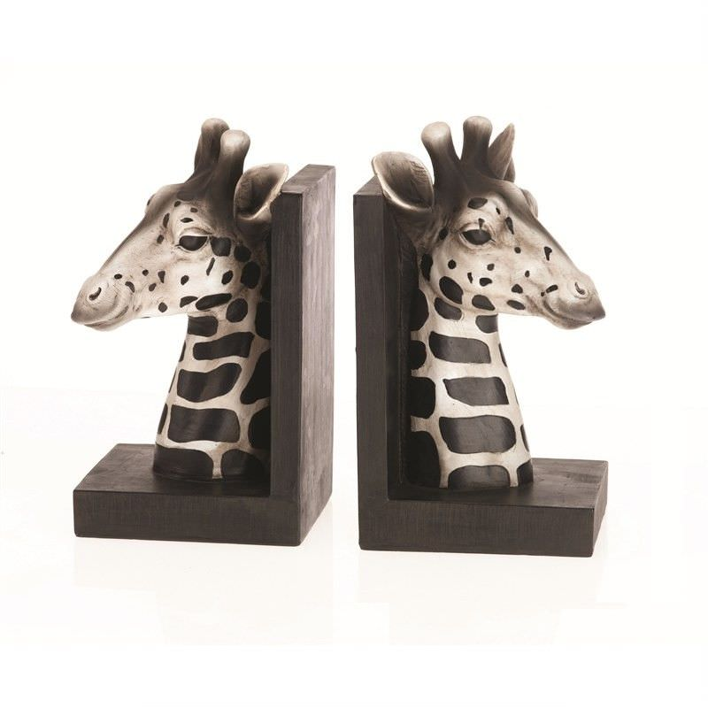 Polyresin Giraffe Bookends - H22cm