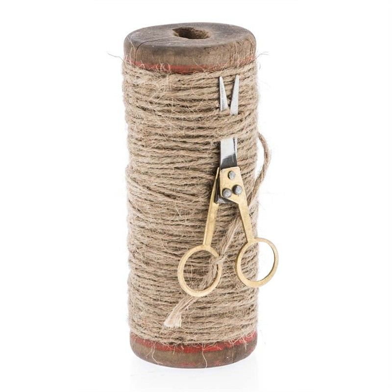 Tall Spool with Twine and Scissors